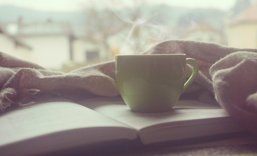 Bild mit Kaffeetasse