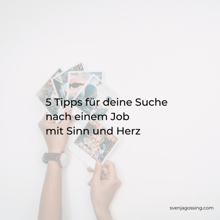 5 Tipps Jobsuche
